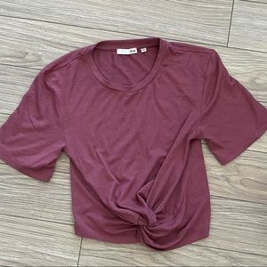 Aritzia Wilfred Free Subah Knotted Crop T Shirt
